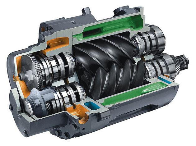 Устройство винтового компрессора.